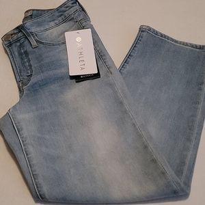Athleta Sculptek Slim Strght Agate Wash Jeans S 2P